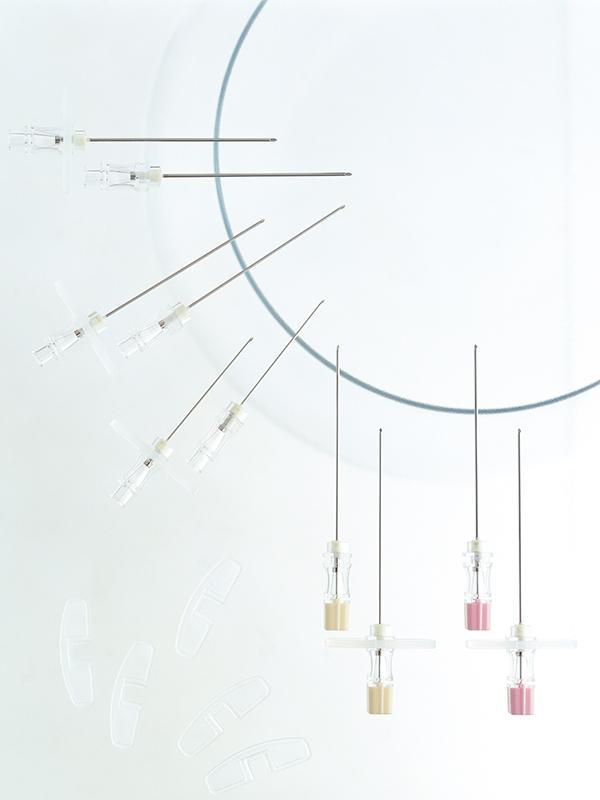 Angiographic-needle